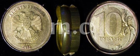 10 руб. 2012 г. ММД. Брак - двойная пробка. ID# RU360