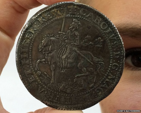 The coin had been handed down through several generations of the former owner's family