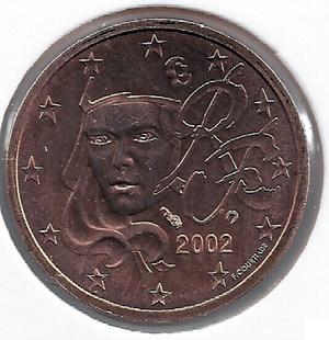 Франция 2 евроцента 2002 (с изображением Марианны)