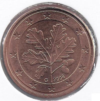 """Германия 5 евроцентов 2008 """"G"""""""