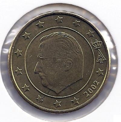 Бельгия 10 евроцентов 2002