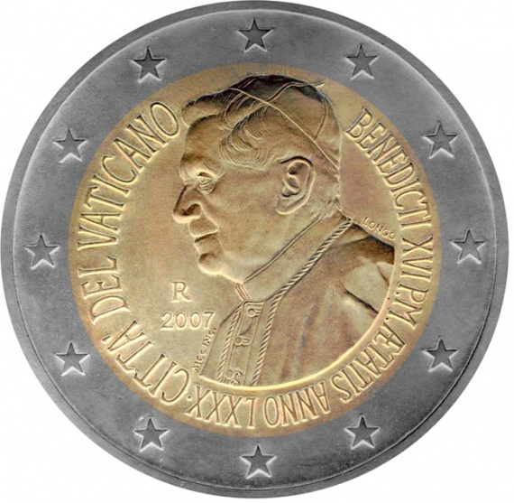 2 euro: 80th birthday of His Holiness Pope Benedict XVI
