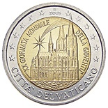2 euro: 20th World Youth Day, held in Cologne in August 2005
