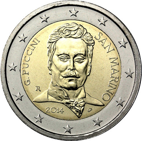 2 euro: 90th Anniversary of the Death of Giacomo Puccini