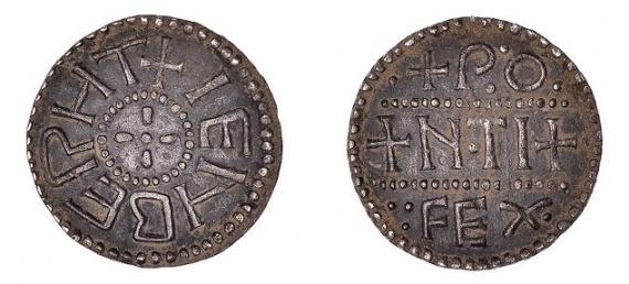 второй в мире англосаксонский пенни, названный в честь архиепископа Кентерберийского